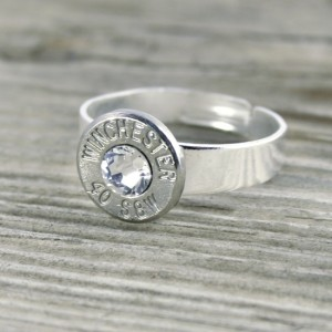 .40 Caliber Nickel Ring, Adjustable