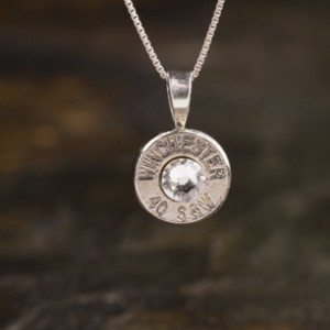 40 Caliber Sterling Silver Bullet Necklace