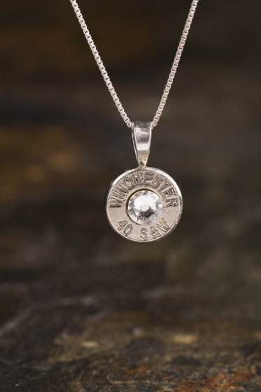 40 Caliber Sterling Silver Bullet Necklace Athena S Armory