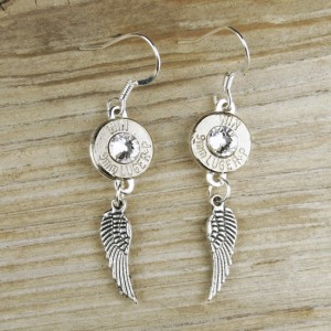 9mm Bullet Wing Earrings