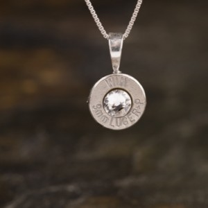 9mm Sterling Silver Bullet Necklace