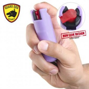 Hard Case Pepper Spray Keychain Lilac