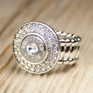 Nickel Bling!Bang! 40 Caliber Bullet Ring