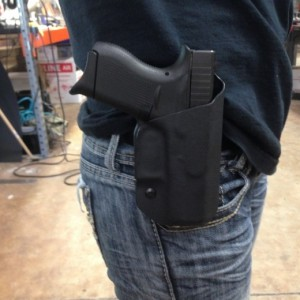 OWB Kydex Holster With Adjustable Clip on Belt