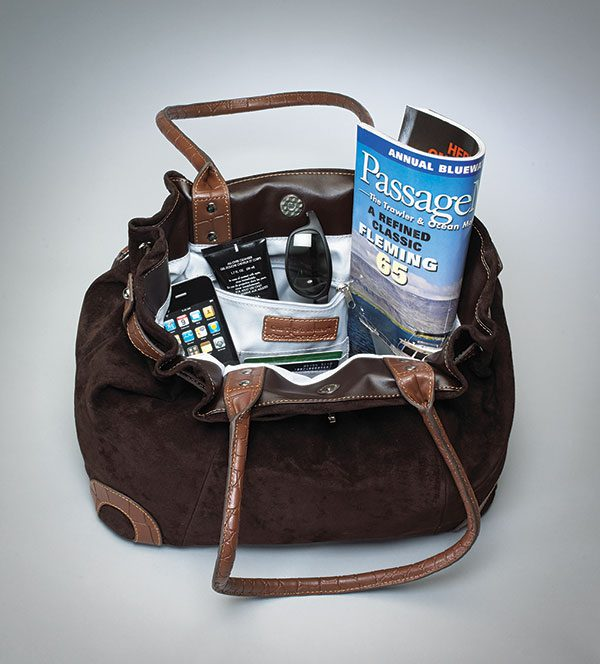 suede concealed carry bag