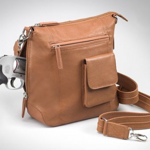 Flat Sac Concealed Carry Purse Tan Draw