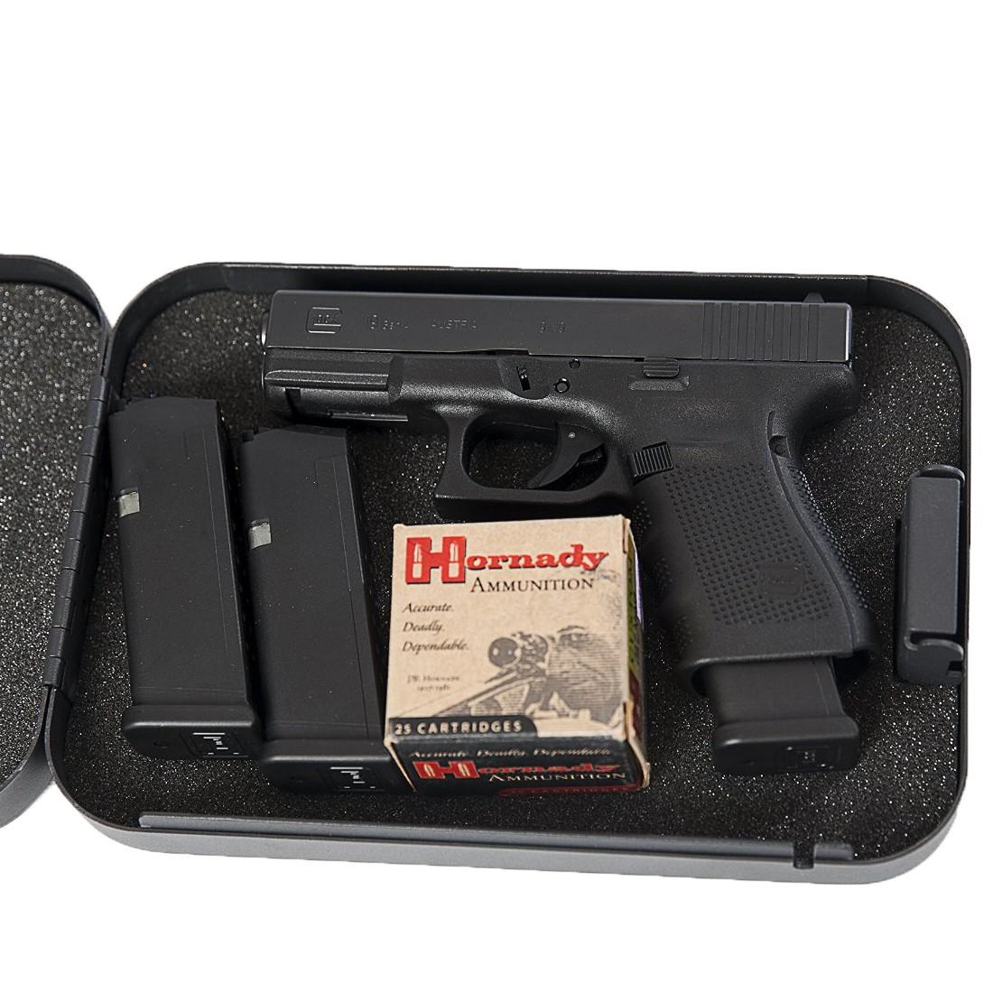 Gun Vault XLarge Combination Lock Box Car Truck Home Pistol Safe Handgun Lockbox