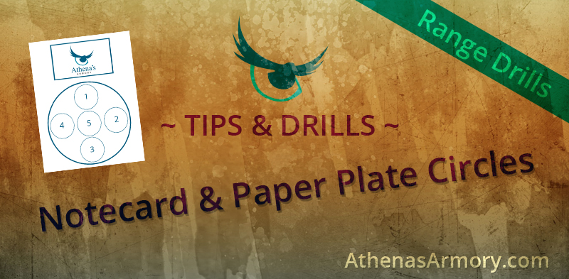 notecard and plate drill target