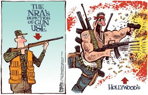 hollywood gun cartoon