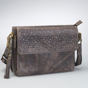 Distressed-Leather-Shoulder-Clutch-Front