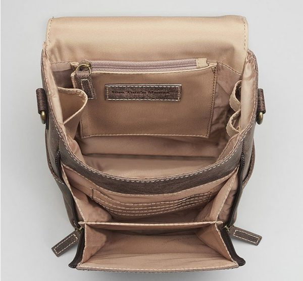 leather concealed carry satchel