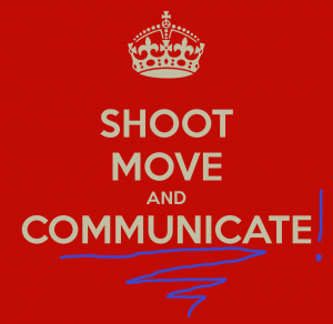 shoot move and communicate