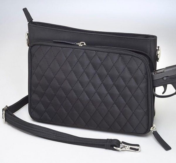 quilted microfiber concealed carry clutch