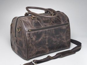 leather concealed carry duffel