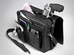 leather concealed carry messenger bag