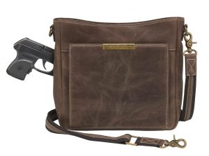 slim distressed leather purse
